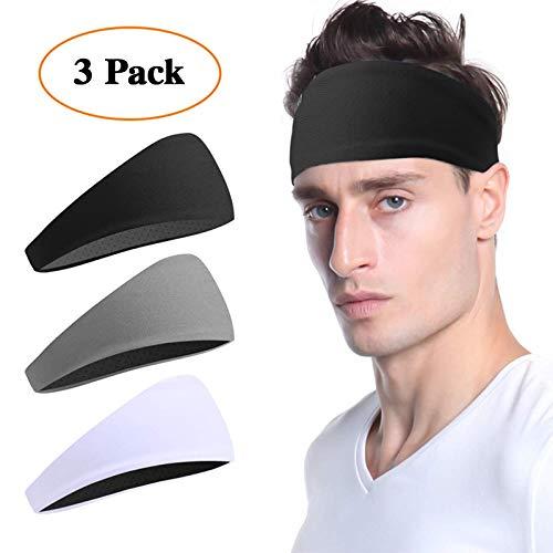 Vgogfly Sweat Headbands for Men Sweatbands for Mens Headband Running Sweat Bands Headbands Men Workout Sports Hairband for Men Thin Fitness Gym Yoga Men Headband