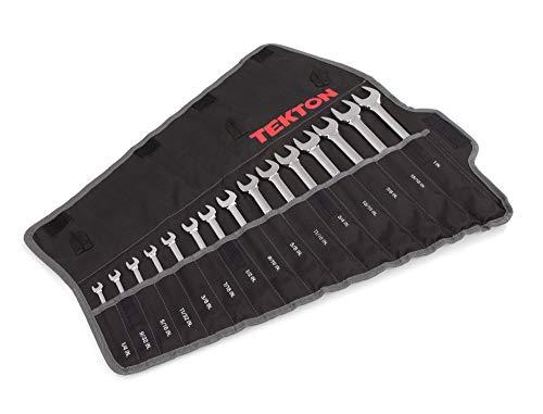 TEKTON Combination Wrench Set, 15-Piece (1/4-1...