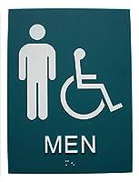 点字サインプレート(両面テープ付き)英文点字/Braille Restroom Sign(w/double sided adhesive tape)