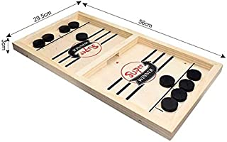 Large Slingshot Table Hockey Party Game, Bouncing Chess Hockey Game, Table Desktop Battle 2 in 1 Ice Hockey Game, Winner B...