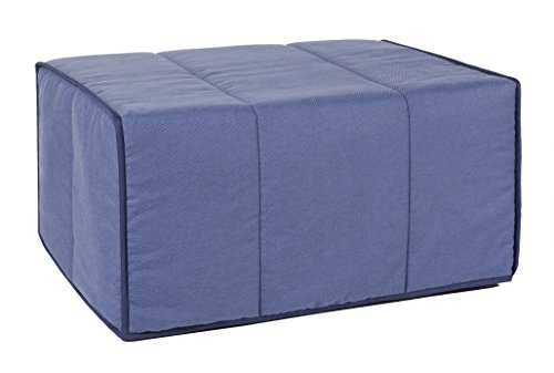Quality Mobles Plegable, Puff Cama, Azul, 80 X 180 Cm