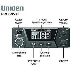 Uniden PRO505XL 40-Channel CB Radio. Pro-Series, Compact Design....