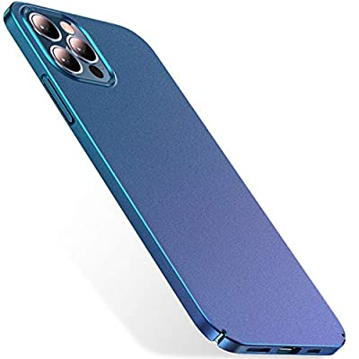 CASEKOO Slim Fit Compatible with iPhone 12 Case, Designed for iPhone 12 Pro Case 6.1 inch 5G (2020), [Ultra Thin] Hard PC Matte Finish Grip Protective Phone Cover- Metallic Blue