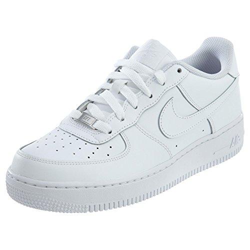 Nike Air Force 1, Zapatillas de Baloncesto Unisex Niños, Blanco (White / White-White), 38.5 EU