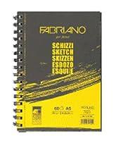 ファブリアーノ ラフブック スケッチブック 横開A5サイズ(60枚) 5冊セット