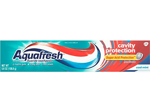 Aquafresh Cavity Protection Fluoride Toothpaste, Cool Mint, 5.6 ounce