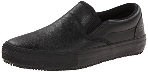 Skechers for Work Women's Maisto Slip-On,Black,7.5 M US