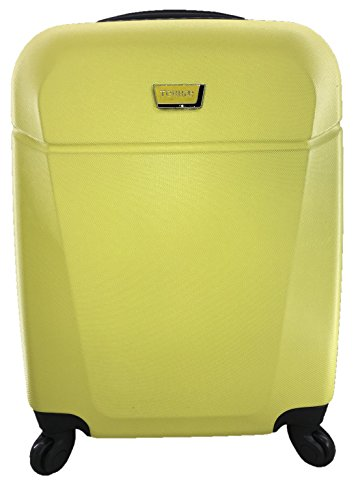 Maleta Equipaje de mano cabina rígida ligera con 4 ruedas, 55cm, TERRAE, color Amarillo AM0867