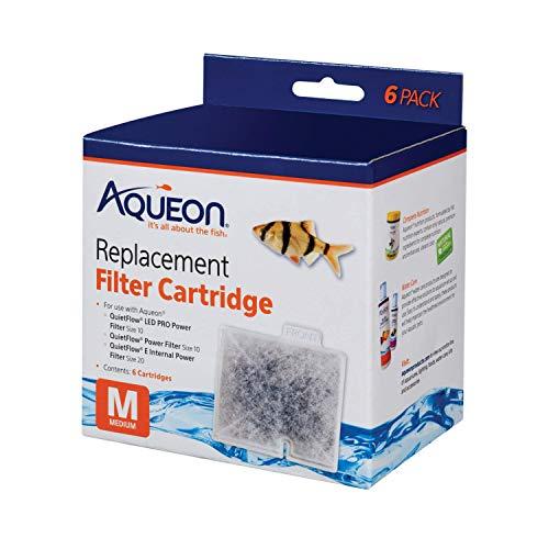 Aqueon QuietFlow Filter Cartridge, Medium, 6-Pack