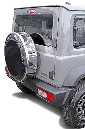 Reifencover 205/70R15 Reserveradcover Reifenhülle Ersatzradabdeckung Edelstahlring + Kunststoffabdeckplatte~