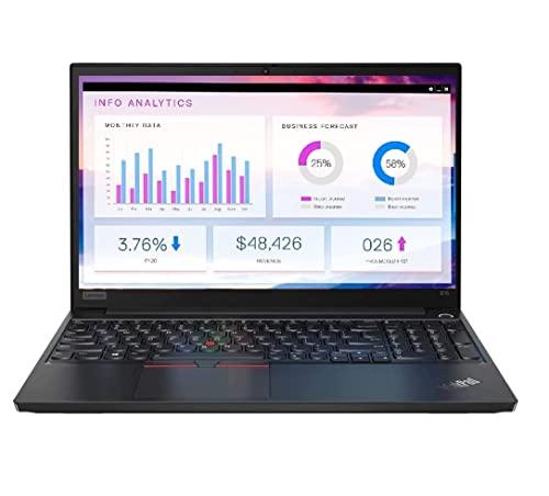 "2020 Lenovo ThinkPad E15 15.6"" FHD Full HD (1920x1080) Business Laptop (Intel 10th Quad Core i5-10210U, 8GB DDR4 RAM, 256GB PCIe SSD) Type-C, HDMI, Windows 10 Pro IST Computers"