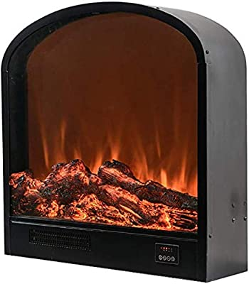 ZHUFU Electric Fireplace Heater Freestanding Electric Fireplace Stove Large Room Heater W/Remote, Overheat & Tip-Over Protection For Office Home Indoor Use