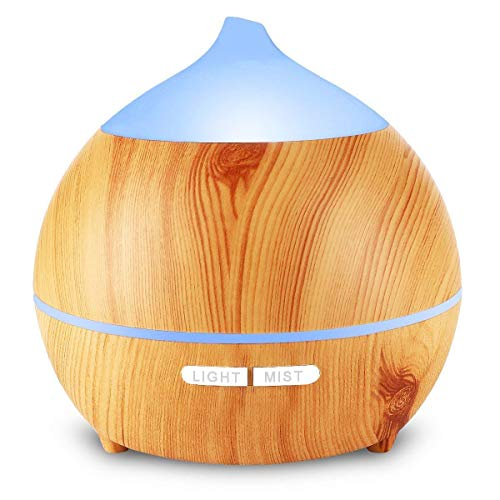 Avaspot 250ml Essential Oil Diffusers Aromatherapy Aroma Diffuser Wood Grain...