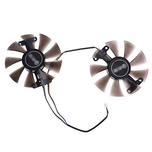 2 peças de 87 mm GA91S2U GPU VGA Card Cooler Fan para Palit GeForce GTX 1080 1070Ti 1070 1060 960 950 substituição de placa de vídeo dupla
