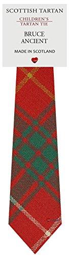 I Luv Ltd Garçon Tout Cravate en Laine Tissé et Fabriqué en Ecosse à Bruce Ancient Tartan