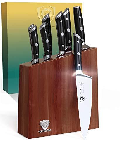 Dalstrong Premium 8-teiliges Messerset mit Messerblock - Gladiator Series - aus Deutschem ThyssenKrupp Edelstahl