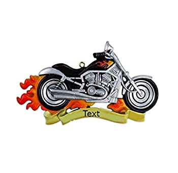 Personalized Christmas Tree Ornament Harley Motorcycle - Holiday Tradition 2020 - Free Customization