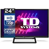 "TD Systems K24Dlx11Hs - Televisor 24"", Android 7.0 y Hbbtv, 800 Pci Hz, 2X Hdmi, 2X Usb. Dvb-T2/C/S2, Modo Hotel, Negro"