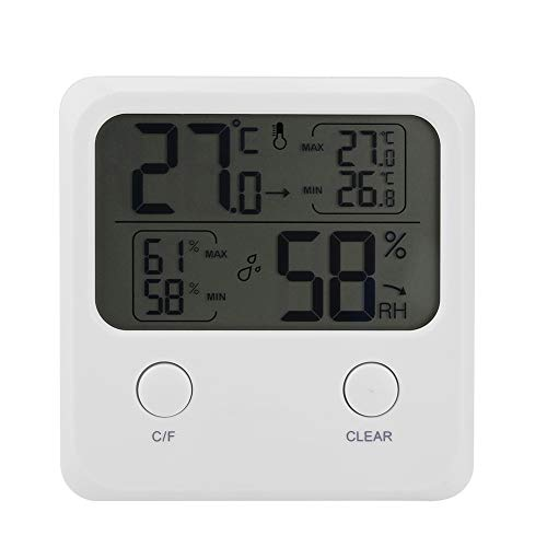 Ruiqas Thermometer Hygrometer Digitales Elektronisches Thermometer Hygrometer mit LCD-Anzeige für Raumgewächshaus