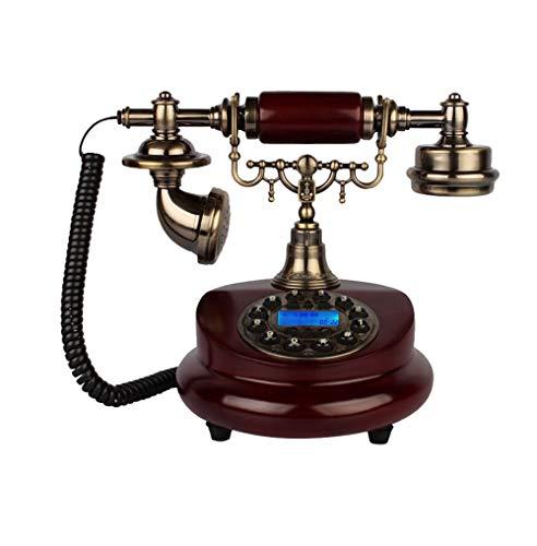 ZXL Woonkamer Retro Europese slaapkamer telefoon vast huis telefoon schilderij antieke versie computerknop + dubbele mechanische en elektronische bel (telefoonlijn)