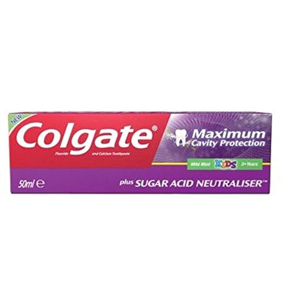 戦争邪悪なスカイコルゲート最大空洞の保護に加えて、糖酸中和剤の子供の歯磨き粉50ミリリットル (Colgate) (x2) - Colgate Maximum Cavity Protection plus Sugar Acid Neutraliser Kids Toothpaste 50ml (Pack of 2) [並行輸入品]