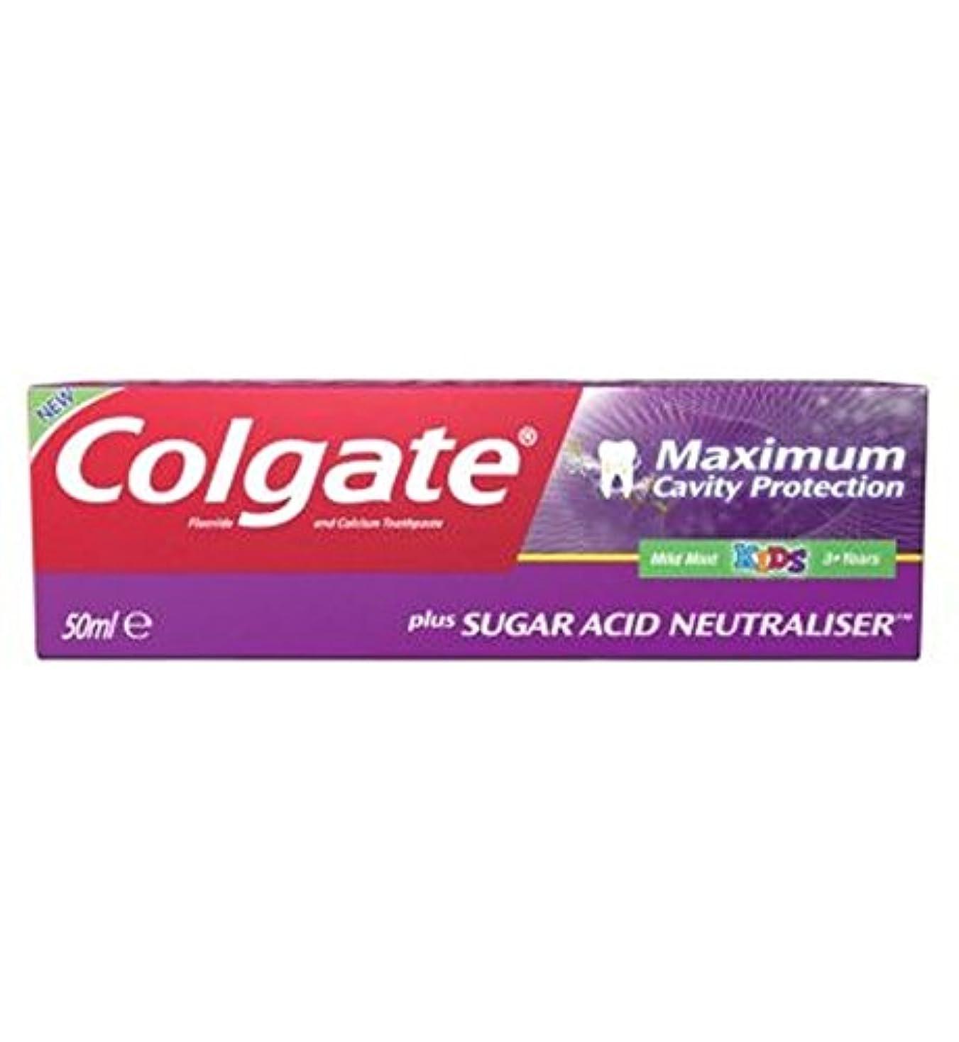 仲間、同僚生じる手入れColgate Maximum Cavity Protection plus Sugar Acid Neutraliser Kids Toothpaste 50ml - コルゲート最大空洞の保護に加えて、糖酸中和剤の子供の歯磨き粉50ミリリットル (Colgate) [並行輸入品]