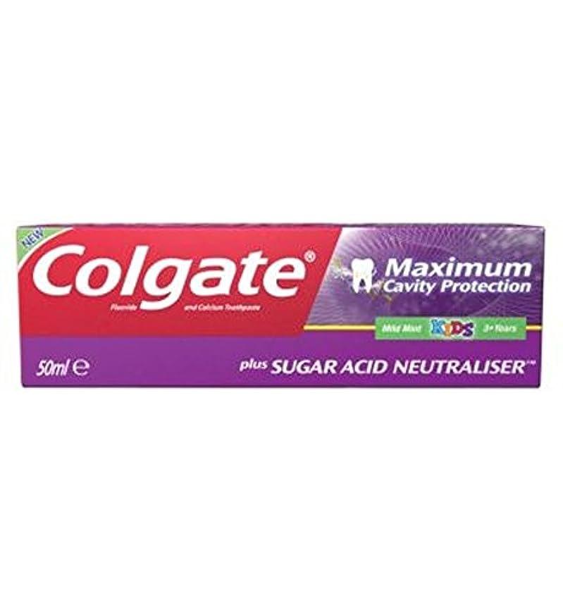 同種の寄託時系列コルゲート最大空洞の保護に加えて、糖酸中和剤の子供の歯磨き粉50ミリリットル (Colgate) (x2) - Colgate Maximum Cavity Protection plus Sugar Acid Neutraliser Kids Toothpaste 50ml (Pack of 2) [並行輸入品]