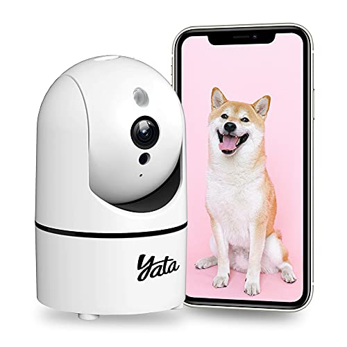 2K Pan & Tilt Pet Camera, Security Indoor Camera with Phone App, Sound and Motion Tracking Baby Monitor Two Way Audio…
