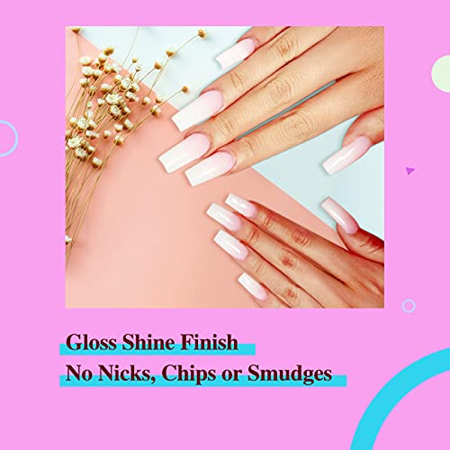 Clear pink gel nails _image0