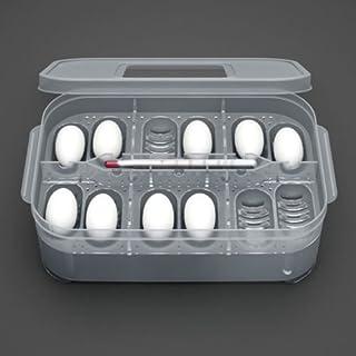 AuCatStore(TM) 12 Reptile Egg Incubator Tray&Thermometer Incubation Gecko Lizard Snake Eggs New