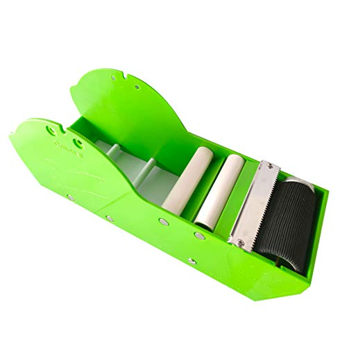 QILIMA Desktop Tape DispenserWater Activated Tape DispenserGreenApply to 3inch Tape Gum Tape Dispenser Sealing Office Supplies