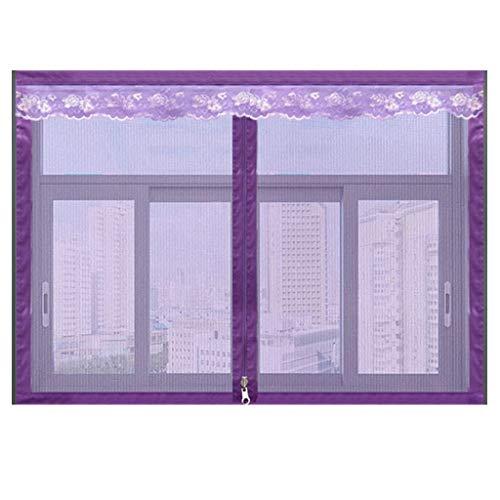 Magnetisch vliegengaas voor ramen, insectenwerende horren voor ramen, insectenwerende horren 80x100Cm(31x39Zoll) lila