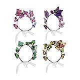 Lurrose 4 piezas de mariposa para el pelo, diadema de playa, accesorios para el pelo de la boda para la foto de la boda (color mezclado)