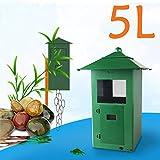 Skyout Aquarium Futterautomat, Fischzufuhr 5L Food Hopper LCD-Anzeige Digitale Automatische Teich-Aquarium-Zufuhr(grün)