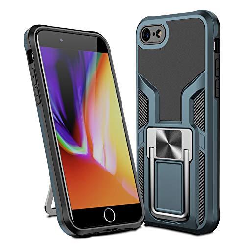 MOONCASE Funda para iPhone 7, Ultra Delgada Silicona Suave TPU Bumper Antichoque Funda Montaje Magnético del Coche Funda para iPhone 7 4.7' - Verde