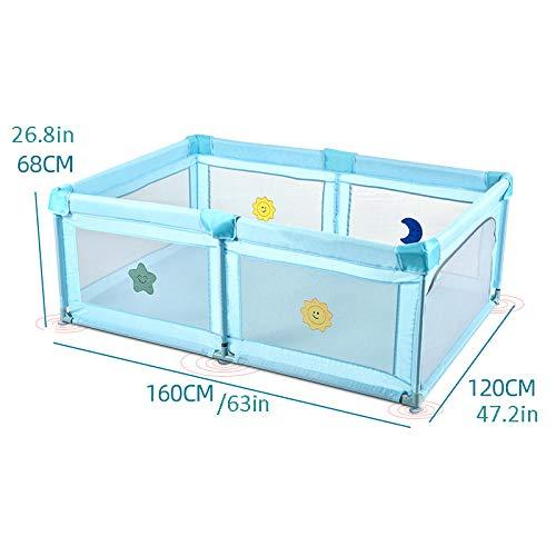 Vitila 22 sq ft BlauSpiel Boden mit Atmungsaktivem Netz,4 eckig Kind Matte für Kleinkinder Drinnen Und Draußen Spielen
