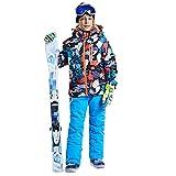 Junge Ski-Jacken Und Hosen Set, Snowboard & Ski Anzug Skiausrüstung, Ski Outfit Snowboard Ski Anzughose,Blau,6