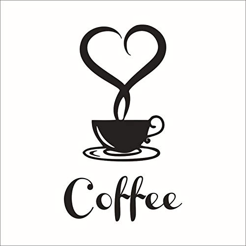 #N/V Pegatinas de pared de tazas de café para cocina, vinilo para pared