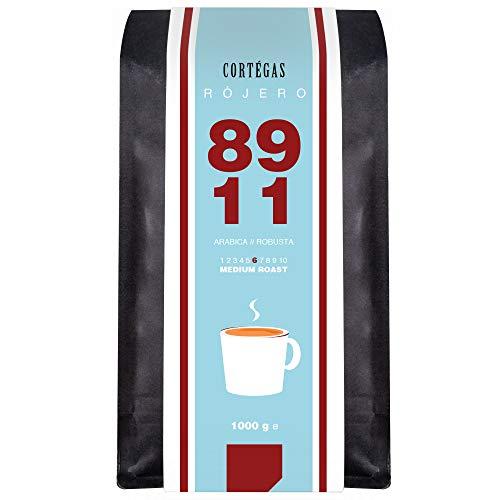 Cortegas Rojero - 1 kg ganze Bohnen - 89% Arabica und 11% Robusta PB - Direct Trade - Premium Kaffeebohnen aus dem Hochland von Guatemala - Schonend geröstet mit wenig Säure - ideal für French Press