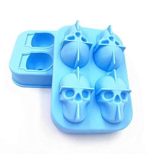 Six6 Eiswürfel, kreative Schädel-Silikon-EIS-Form-Easy-Freigabe EIS-Würfel-Form, Geeignet für Whisky, Cola oder Kaffee,Sky Blue