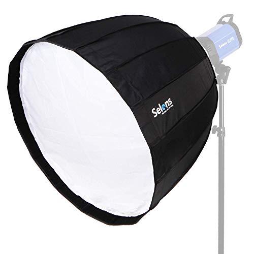 Selens Hexadecagon Quick Softbox 90cm Deep Parabolic Regenschirm Collapsible Softbox mit Bowen Mount für Portrait Produktfotografie Fotostudio Beleuchtung Blitzlicht
