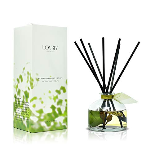 LOVSPA Eucalyptus Essential Oil Reed Diffuser Gift Set | Revive | Fresh Eucalyptus, Sage, Citrus, Bamboo & Mint | Great Aromatherapy Gift for Mom,...