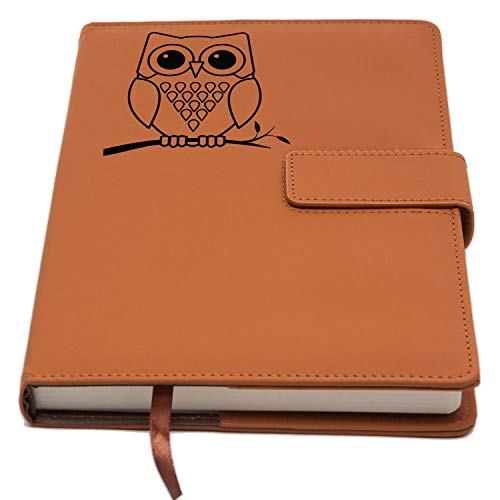 The Owl Journal | Strong Clasp, Refillable Writing Journal, Faux Leather Journal, 200 Lined Pages, 5 x 8 Inch, A5 | Journal Notebooks and Travel Journal For Women from The Amazing Office