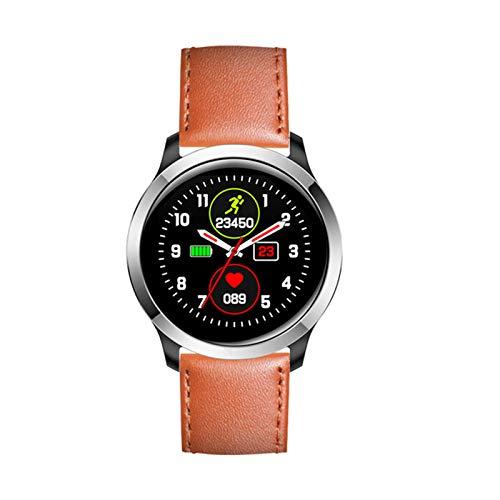 DKM ECG Fitness Tracker Smart Watch Impermeable IP68 Deportes Smartwatch, Pulsera Inteligente con Monitor De Frecuencia Cardíaca para Android iOS,A
