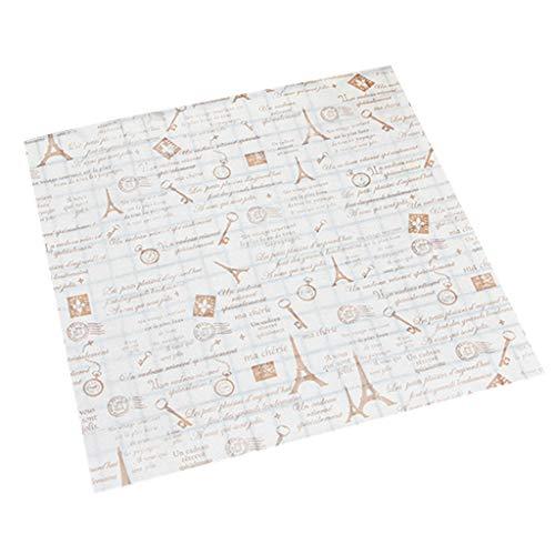 WOWOWO 50 Stück Wachsölpapier Brot Sandwich Burger Cookie Wrapper Paper Tool