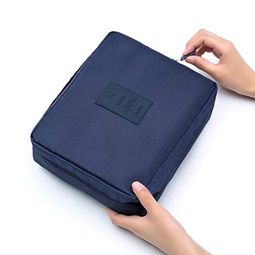 BLI Waterproof Toiletry Bag Cosmetic Bag Multifunctional Oxford Cloth Travel Storage Cosmetic Bag Deep Blue