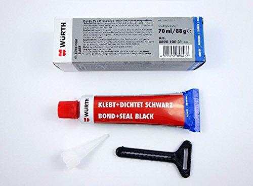 Würth Klebt + Dichtet PU Montageklebstoff Kleber Leim Dichtmittel Schwarz 089010031