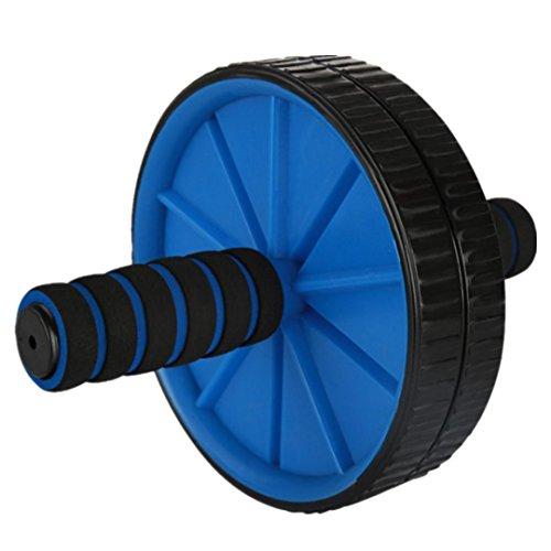 STRIR AB Roller Wheel Rueda para Entrenamiento de Abdominales - Rodillo para Abdominales hipopresivos, Rueda de Aerobic (Azul)