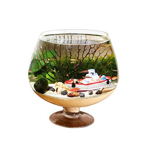 xinxinchaoshi Pecera Personalidad Forma Creativa Cubilete Fish Tank Aquarium Desktop Eco Botella Pequeño Fish Tank...