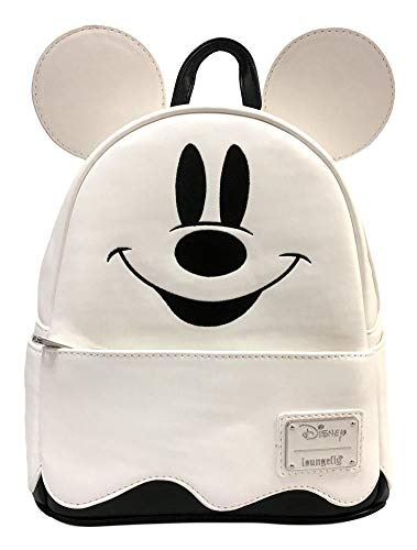 Loungefly Disney Ghost Mickey Mouse BOO! Halloween Womens Mini Backpack Purse